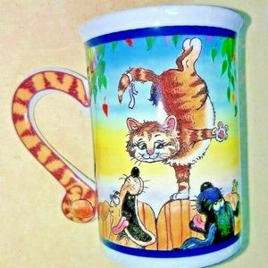 CAT Mug /coffee cup Danbury Mint Gary Peterson